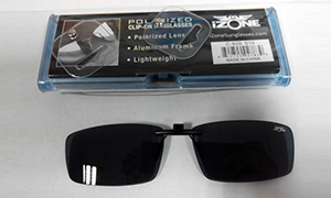 Clip on sunglass pvc case